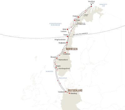 Expedition auf den Spuren der Postschiffroute ab/bis Hamburg — Sommer
