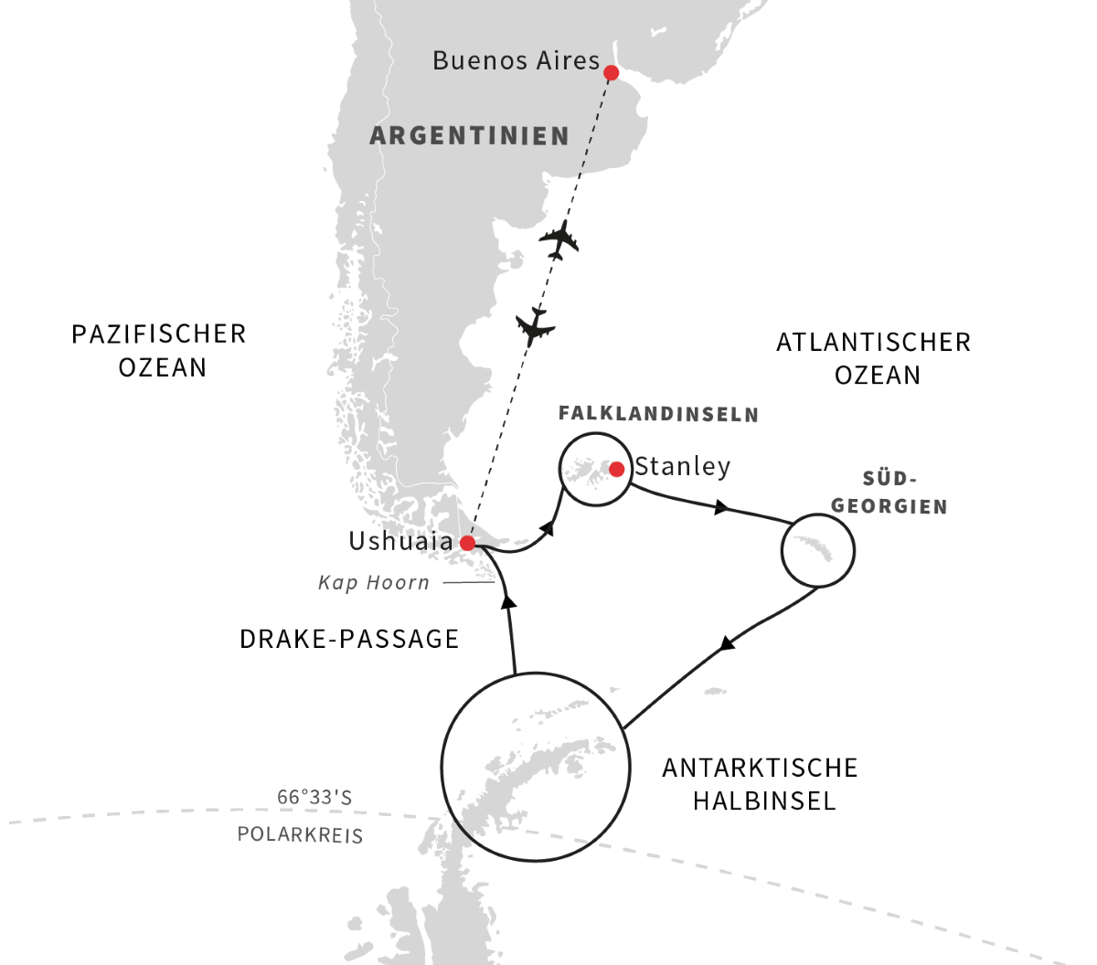 Antarktis, Falklandinseln und Südgeorgien – Die ultimative Expeditionsreise (2021)