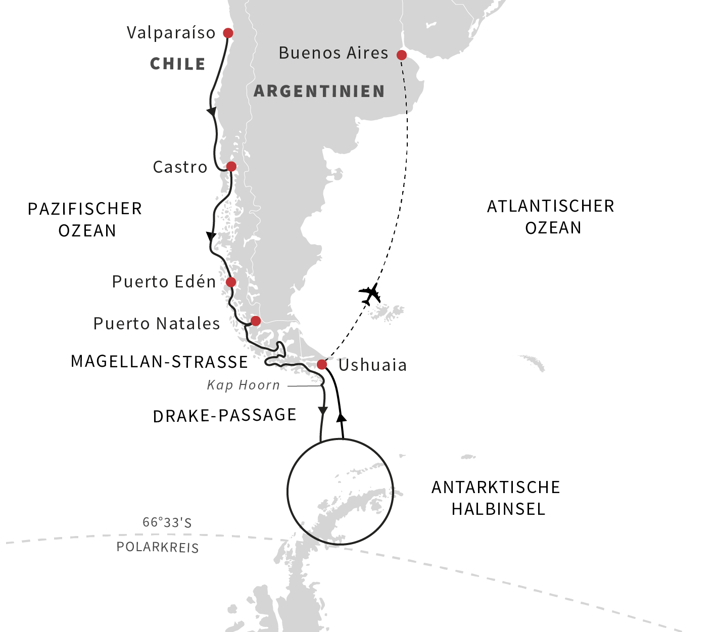 Expeditionsreise Patagonien und Antarktis
