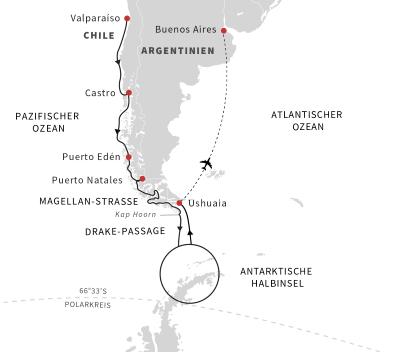 Expeditionsreise Patagonien und Antarktis – Kurs Süd