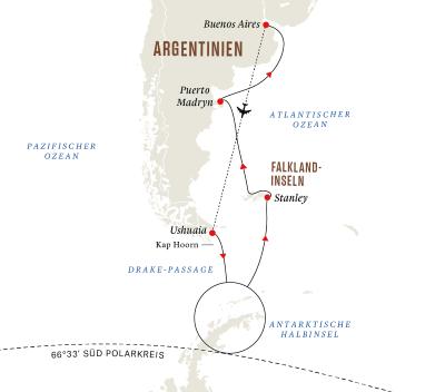 Antarktis und Falklandinseln – Abenteuer am Ende der Welt (Kurs Nord)
