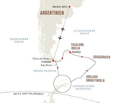 Antarktis, Falklandinseln und Südgeorgien – Die ultimative Expeditionsreise und Sonnenfinsternis