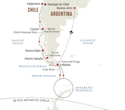 Expeditionsreise Antarktis und Patagonien (Kurs Süd)