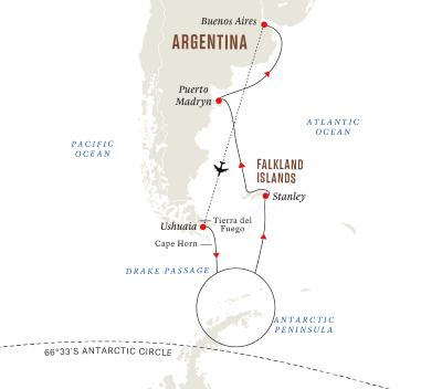 Expedition Antarktis und Falklandinseln (Kurs Nord)