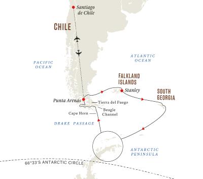 Expeditionsreise Antarktis, Falklandinseln und Südgeorgien