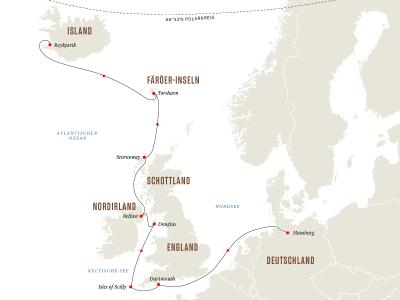 Britische Inseln und Färöer-Inseln – Burgen, Hauptstädte und Wikinger