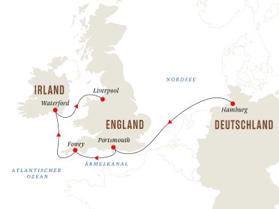 Von Hamburg nach Liverpool– Historische Häfen in England und Irland