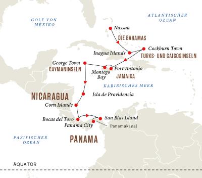 Mittelamerika - Versteckte Paradiese und Panamakanal (Route A)