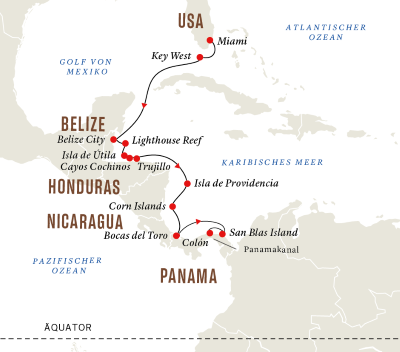 Mittelamerika – Unbekannte Naturschönheiten (Route B)