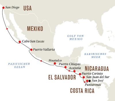 Mittelamerika – Natur und Kultur entlang der Pazifikküste
