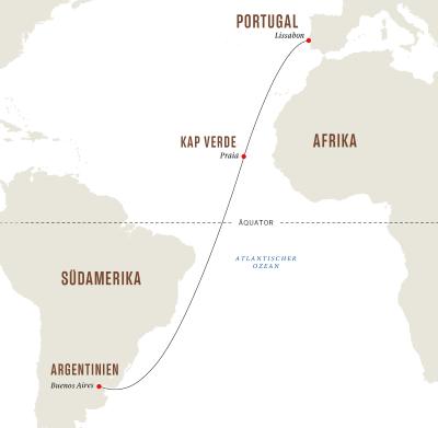 Von Buenos Aires nach Lissabon– Wellness- und Erholungsreise auf See