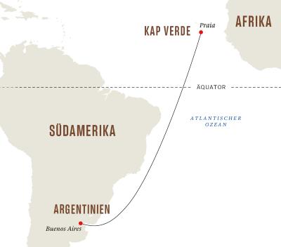 Von Buenos Aires nach Kap Verde– Wellness- und Erholungsreise auf See