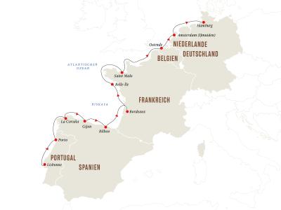 Höhepunkte der europäischen Atlantikküste