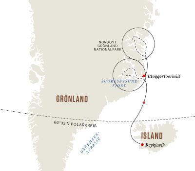 Grönland und Island – Die ultimative Expedition - Fjorde und Nationalparks (Route A)