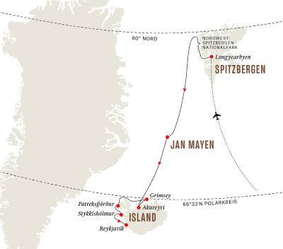 Island, Jan Mayen und Spitzbergen – Expedition in die arktische Inselwelt (Kurs West)