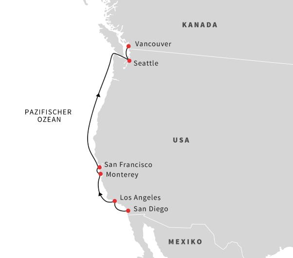 Städte westküste usa