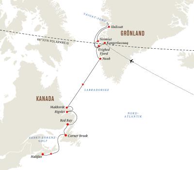 Grönland und Kanada  –  Expedition in die Geschichte, Kultur und Natur (Route B)