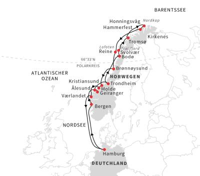 Norwegen - Auf der Postschiffroute ab Hamburg