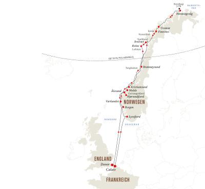Norwegen-Expedition – Nordkap und Fjorde ab/bis Dover