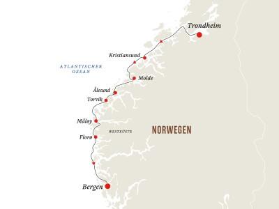 Norwegen: Trondheim - Bergen