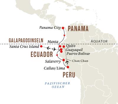 Panama, Ecuador und Peru – Galápagosinseln und die Geheimnisse der Inkas