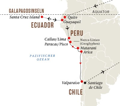 Gruppenreise: Peru und Chile – Galápagosinseln und die Geheimnisse der Inkas