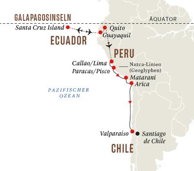 Peru und Chile – Galápagosinseln und die Geheimnisse der Inkas