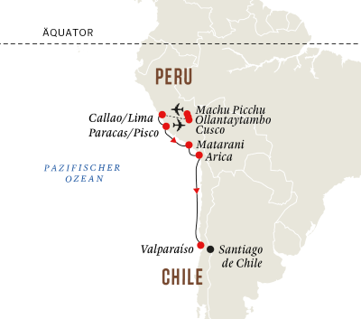 Peru und Chile - Höhepunkte des Inka-Reichs und Machu Picchu