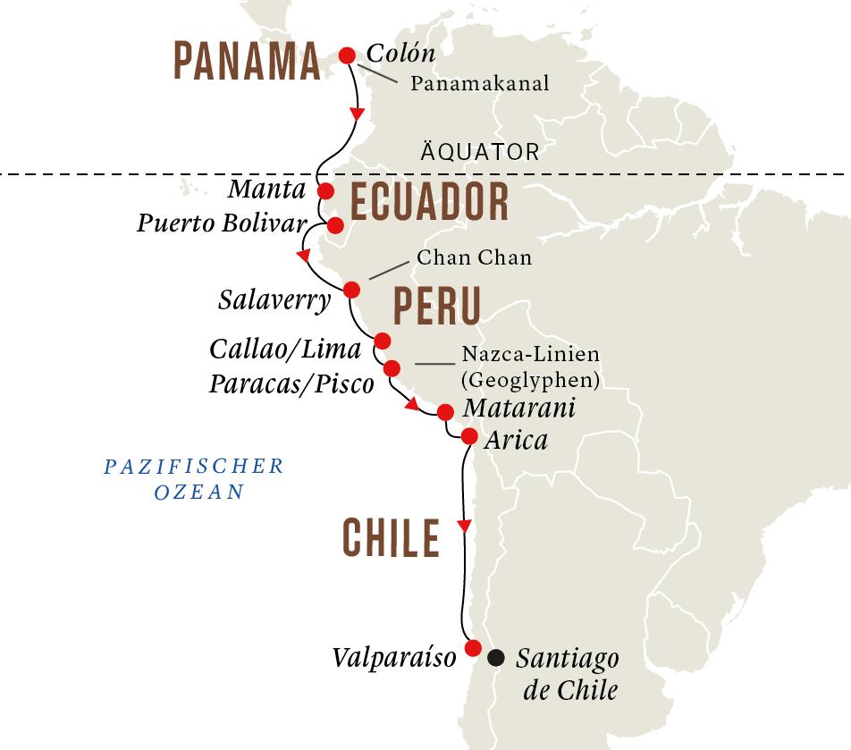 Panama Und Peru Entdeckungsreise Panamakanal Hurtigruten