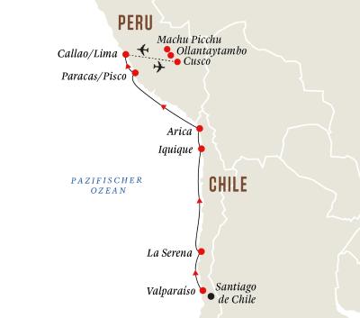 Chile und Peru mit Machu Picchu