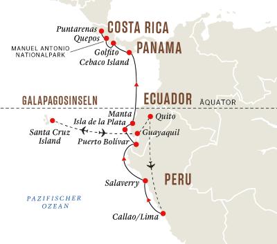 Galápagos-Inseln und Nationalparks in Südamerika