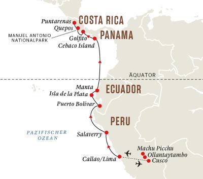Die Küste Südamerikas– Machu Picchu und Nationalparks