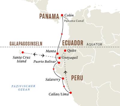 Entdeckungsreise Panamakanal mit Galápagos-Inseln