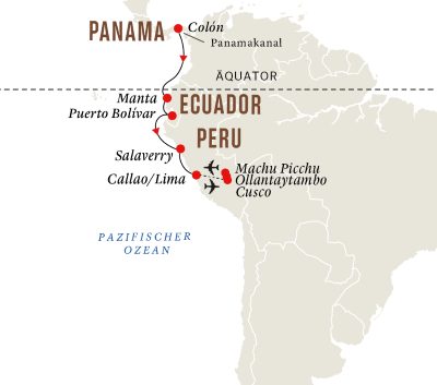 Entdeckungsreise Panamakanal mit Machu Picchu