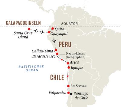 Galapagosinseln und Höhepunkte der Westküste Südamerikas
