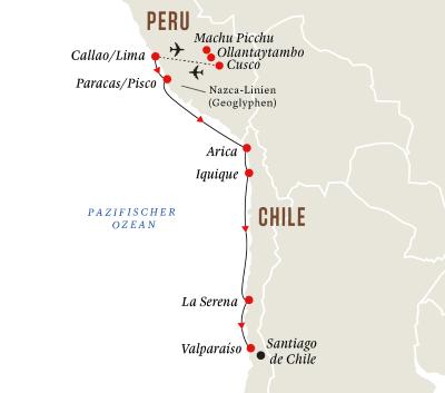 Machu Picchu und Höhepunkte der Andenküste