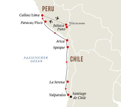 Titicacasee und die Westküste Südamerikas