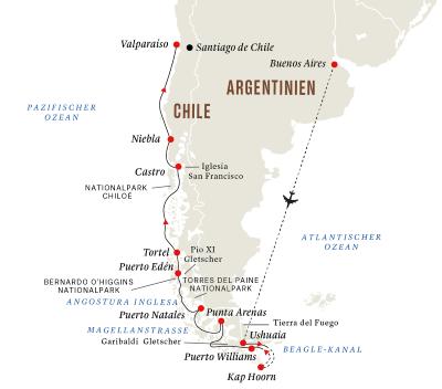 Expedition Patagonien und chilenische Fjorde