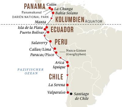 Andenküste– Panamakanal und Geheimnisse der Inka