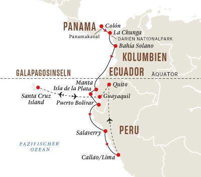 Panamakanal und Geheimnisse der Inka mit Galápagos-Inseln