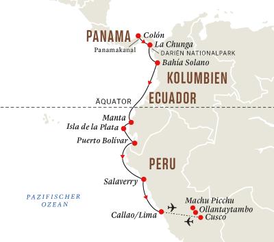 Panamakanal und Geheimnisse der Inka mit Machu Picchu