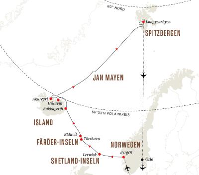 Färöer-Inseln, Island, Spitzbergen – Eine arktische Insel-Expedition (Kurs Nord)