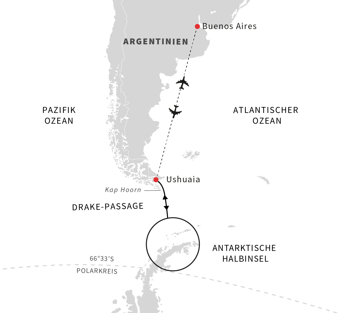Hurtigruten: de desktop map