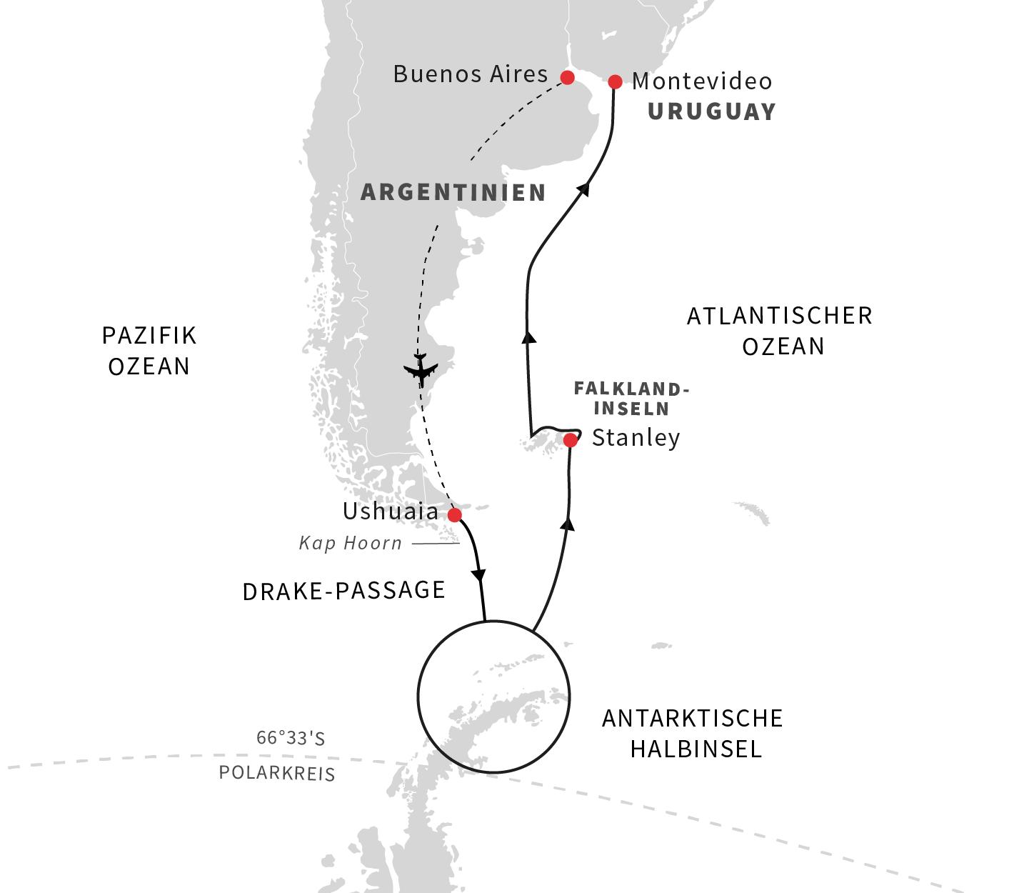 Abenteuer am Ende der Welt- Kurs Nord