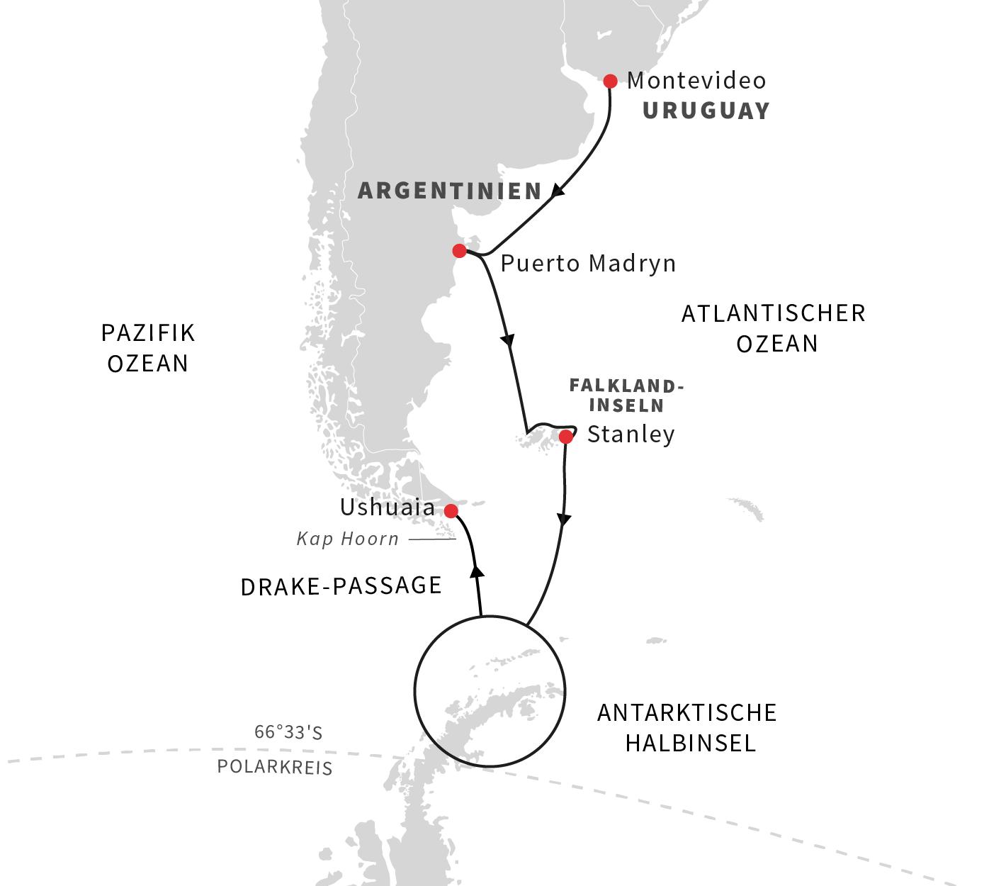 Abenteuer am Ende der Welt- Kurs Süd