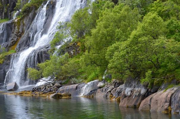 Der Wasserfall Vøringsfossen im Eidfjord.