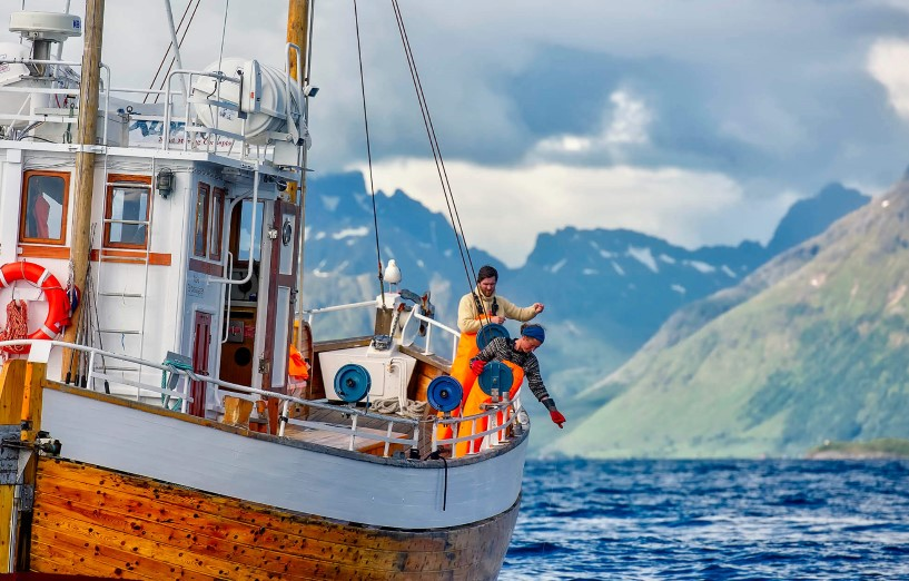 Fischerboot in Lofoten