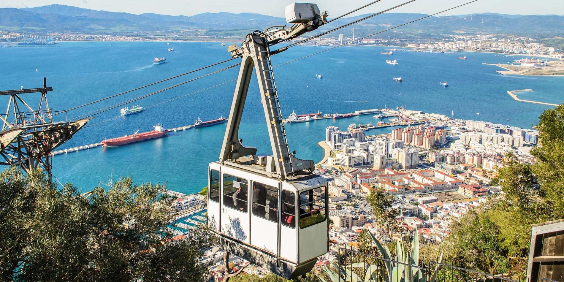 Gibraltar Sehenswurdigkeiten Karte.Gibraltar Die Felsen Tour Mit Der Seilbahn Auf Die
