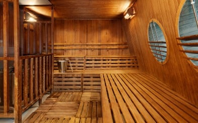 Sauna on MS Fram